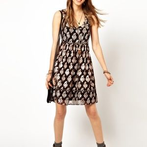 Free People Metallic Racerback Cocktail Dress